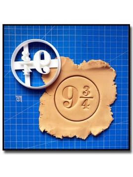 9.3/4 Harry Potter 001 - Emporte-pièce pour pâtes à sucre et sablés sur le thème Harry Potter