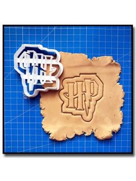 Harry Potter Logo 001 - Emporte-pièce pour pâtes à sucre et sablés sur le thème Harry Potter