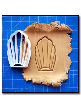 Madeleine 002 - Emporte-pièce pour pâtes à sucre et sablés sur le thème Nourriture