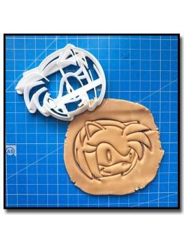 Amy Rose 001 - Emporte-pièce pour pâtes à sucre et sablés sur le thème Sonic