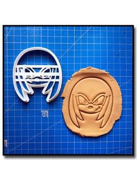 Knuckles 001 - Emporte-pièce pour pâtes à sucre et sablés sur le thème Sonic