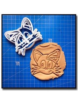 Miles Tails Prower 001 - Emporte-pièce pour pâtes à sucre et sablés sur le thème Sonic