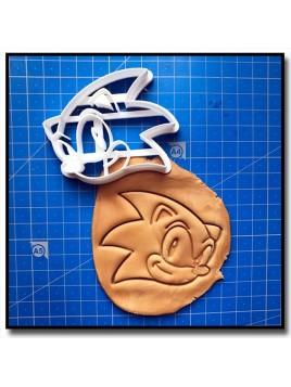 Sonic 001 - Emporte-pièce pour pâtes à sucre et sablés sur le thème Sonic