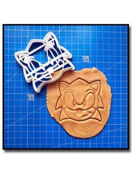 Sonic 002 - Emporte-pièce pour pâtes à sucre et sablés sur le thème Sonic