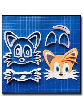 """Miles """"Tails"""" Prower 101 - Emporte-pièce en Kit pour pâtes à sucre et sablés sur le thème Sonic"""