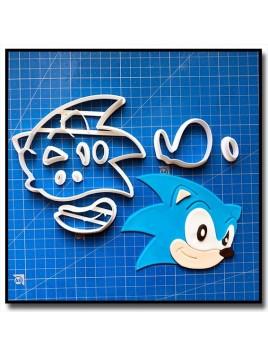 Sonic 101 - Emporte-pièce en Kit pour pâtes à sucre et sablés sur le thème Sonic