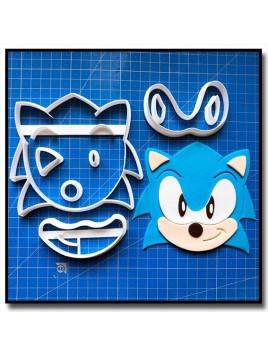 Sonic 102 - Emporte-pièce en Kit pour pâtes à sucre et sablés sur le thème Sonic