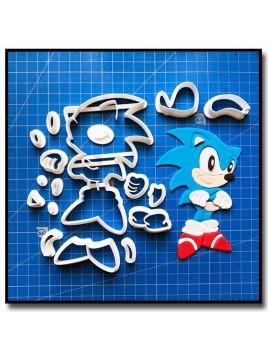 Sonic 103 - Emporte-pièce en Kit pour pâtes à sucre et sablés sur le thème Sonic