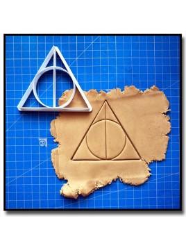 Reliques de la Mort 002 - Emporte-pièce pour pâtes à sucre et sablés sur le thème Harry Potter
