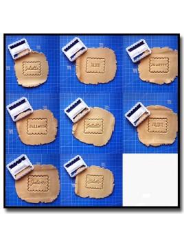 Petit Beurre & Prénom 001 - Emporte-pièce pour pâtes à sucre et sablés sur le thème Personnalisée