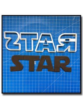 Star Wars Typographie 201 - Emporte-pièce pour pâtes à sucre et sablés sur le thème Star Wars