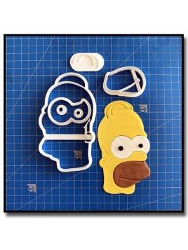 Homer Simpsons 101 - Emporte-pièce en Kit pour pâtes à sucre et sablés sur le thème Les Simpsons