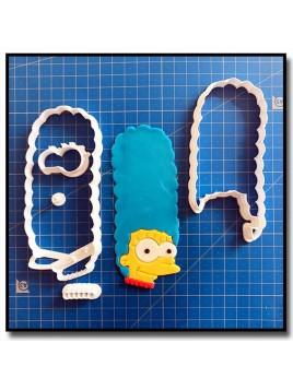 Marge Simpsons 101 - Emporte-pièce en Kit pour pâtes à sucre et sablés sur le thème Les Simpsons
