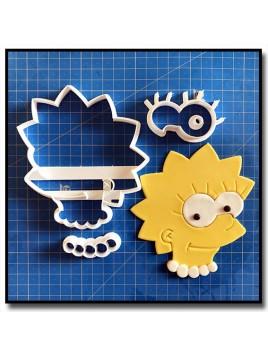 Lisa Simpsons 101 - Emporte-pièce en Kit pour pâtes à sucre et sablés sur le thème Les Simpsons