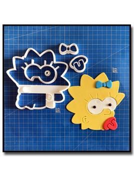 Maggie Simpsons 101 - Emporte-pièce en Kit pour pâtes à sucre et sablés sur le thème Les Simpsons