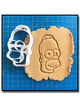 Homer Simpsons 001 - Emporte-pièce pour pâtes à sucre et sablés sur le thème Les Simpsons