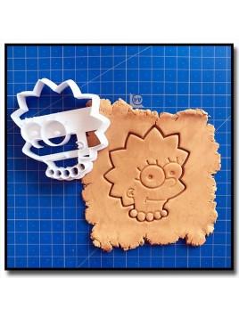 Lisa Simpsons 001 - Emporte-pièce pour pâtes à sucre et sablés sur le thème Les Simpsons
