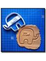 Éléphant & Prénom 001 - Emporte-pièce pour pâtes à sucre et sablés sur le thème Safari