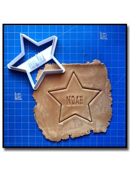 Étoile & Prénom 001 - Emporte-pièce pour pâtes à sucre et sablés sur le thème Personnalisée