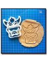 Bowser 001 - Emporte-pièce pour pâtes à sucre et sablés sur le thème Super Mario