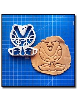 Plante Piranha 001 - Emporte-pièce pour pâtes à sucre et sablés sur le thème Super Mario