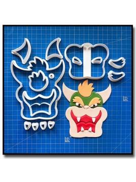 Bowser 101 - Emporte-pièce en Kit pour pâtes à sucre et sablés sur le thème Super Mario