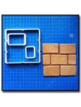 Briques de Mario 101 - Emporte-pièce en Kit pour pâtes à sucre et sablés sur le thème Super Mario
