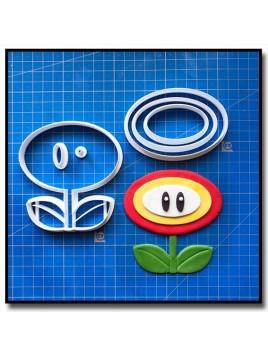 Fleur de feu 101 - Emporte-pièce en Kit pour pâtes à sucre et sablés sur le thème Super Mario