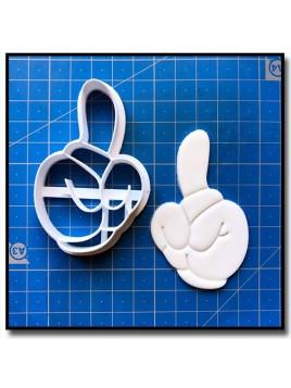 Main de Mickey 1 Chiffres 001 - Emporte-pièce pour pâtes à sucre et sablés sur le thème La bande de Mickey