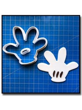 Main de Mickey 4 Chiffres 001 - Emporte-pièce pour pâtes à sucre et sablés sur le thème La bande de Mickey