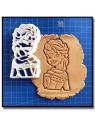 Elsa 002 - Emporte-pièce pour pâtes à sucre et sablés sur le thème La Reine des Neiges