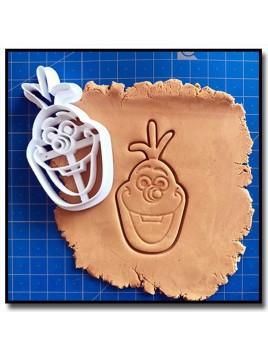 Olaf 001 - Emporte-pièce pour pâtes à sucre et sablés sur le thème La Reine des Neiges