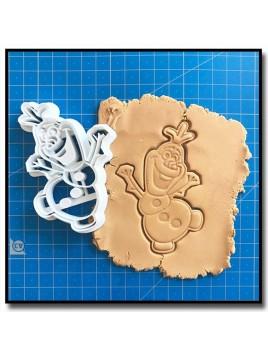 Olaf 002 - Emporte-pièce pour pâtes à sucre et sablés sur le thème La Reine des Neiges