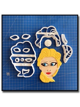 Elsa 101 - Emporte-pièce en Kit pour pâtes à sucre et sablés sur le thème La Reine des Neiges