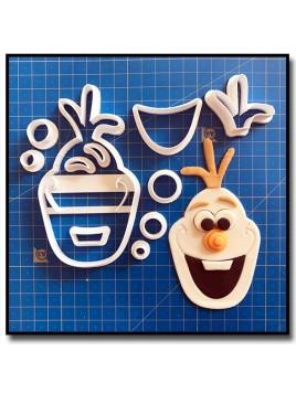 Olaf 101 - Emporte-pièce en Kit pour pâtes à sucre et sablés sur le thème La Reine des Neiges