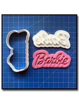 Barbie Logo 101 - Emporte-pièce en Kit pour pâtes à sucre et sablés sur le thème Barbie