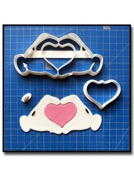 Mains Mickey Coeur 101 - Emporte-pièce en Kit pour pâtes à sucre et sablés sur le thème La bande de Mickey