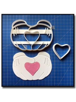 Mains Mickey Coeur 102 - Emporte-pièce en Kit pour pâtes à sucre et sablés sur le thème La bande de Mickey