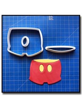 Mickey pantalon 101 - Emporte-pièce en Kit pour pâtes à sucre et sablés sur le thème La bande de Mickey