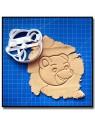 Petit Ours Brun Visage 001 - Emporte-pièce pour pâtes à sucre et sablés sur le thème Dessin Animés