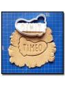 Pied de bébé & Prénom 001 - Emporte-pièce pour pâtes à sucre et sablés sur le thème Naissance