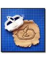 Plaque, Prénom & Biberon 001 - Emporte-pièce pour pâtes à sucre et sablés sur le thème Naissance