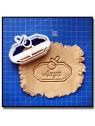 Plaque, Prénom & Tétine 001 - Emporte-pièce pour pâtes à sucre et sablés sur le thème Naissance