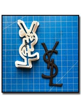 YSL Logo 201 - Emporte-pièce pour pâtes à sucre et sablés sur le thème Mode & Fashion
