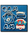 Pat Patrouille Logo 101 - Emporte-pièce en Kit pour pâtes à sucre et sablés sur le thème Pat Patrouille