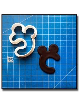 Mickey Typographie 201 - Emporte-pièce pour pâtes à sucre et sablés sur le thème La bande de Mickey