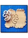 Minnie Typographie 201 - Emporte-pièce pour pâtes à sucre et sablés sur le thème La bande de Mickey
