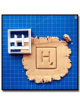 Scrabble Typographie 001 - Emporte-pièce pour pâtes à sucre et sablés sur le thème Alphabet & Nombre