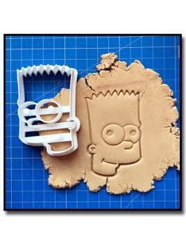 Bart Simpsons 001 - Emporte-pièce pour pâtes à sucre et sablés sur le thème Les Simpsons
