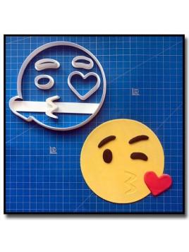 Emoticone Bisous Coeur 101 - Emporte-pièce en Kit pour pâtes à sucre et sablés sur le thème Réseaux sociaux